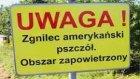 Foto / Tablica informacyjna: UWAGA! Obszar zapowietrzony - zgnilec amerykański pszczół