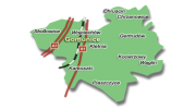 Grafika / Mapka poglądowa Gminy Gomunice